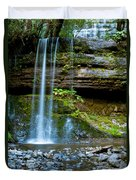 Waterfall In Deep Forest Duvet Cover