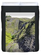Waterfalls Of Table Mountain Duvet Cover