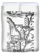 Watermill, Reversed Archimedean Screw Duvet Cover by Science Source