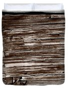 Weathered Wall In Bodie Ghost Town Duvet Cover