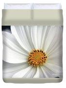 White Cosmos Duvet Cover