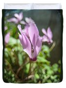 Wild Cyclamen Duvet Cover
