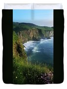 Wildflowers At The Coast, County Duvet Cover