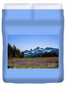 Wildflowers In The Cascades Duvet Cover