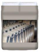 Wine Barrels In Line Duvet Cover