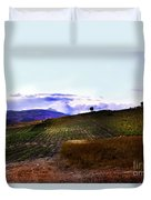 Wine Vineyard In Sicily Duvet Cover