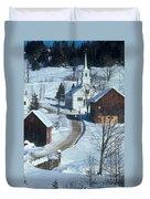 Winter Countryside Duvet Cover
