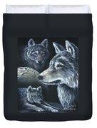 Wolf Trio Duvet Cover