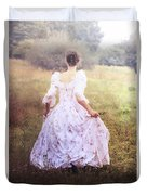 Woman In A Meadow Duvet Cover