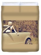 Woman In Convertible Duvet Cover by Joana Kruse