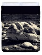 Woman In River Duvet Cover by Joana Kruse