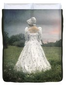 Woman With Bonnet Duvet Cover by Joana Kruse