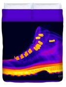 X-ray Of A Hiking Boot Duvet Cover