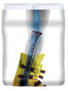 X-ray Of Broken Bones In Ski Boot Duvet Cover