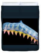 X-ray Of Shark Jaws Duvet Cover