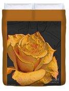 Yellow Rose Art Duvet Cover