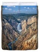 Yellowstone Lower Falls Duvet Cover