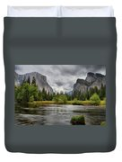 Yosemite's Valley View  Duvet Cover