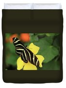 Zebra Longwing Duvet Cover