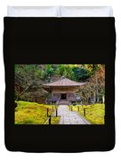 Zen Garden At A Sunny Day Duvet Cover