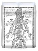 Zodiac Man, Medical Astrology Duvet Cover by Science Source