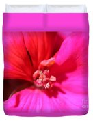 Zonal Geranium Named Tango Neon Purple Duvet Cover