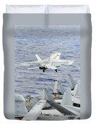 An Fa-18e Super Hornet Launches Duvet Cover