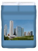 Chicago City Scenes Duvet Cover