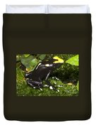 Dyeing Poison Frog Duvet Cover