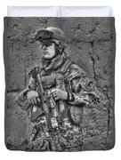 Hdr Image Of A German Army Soldier Duvet Cover