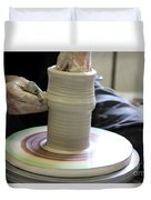 Pottery Wheel, Sequence Duvet Cover