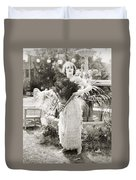 Silent Film Still: Woman Duvet Cover