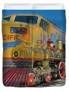 100 Years Of Union Pacific Railroading Duvet Cover