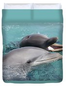Atlantic Bottlenose Dolphins Duvet Cover