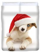 Border Collie Puppy Duvet Cover by Jane Burton