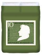 Heinrich Heine (1797-1856) Duvet Cover