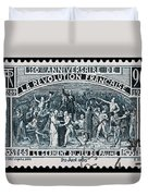 old French postage stamp Duvet Cover