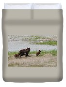 Black Bear Family Duvet Cover