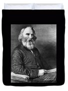 Henry Wadsworth Longfellow Duvet Cover