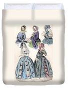 Womens Fashion, 1842 Duvet Cover