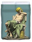 Aristotle, Ancient Greek Philosopher Duvet Cover