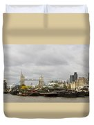 Thames Barges Tower Bridge 2012 Duvet Cover