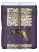1577 Comet In Turkish Manuscript Duvet Cover