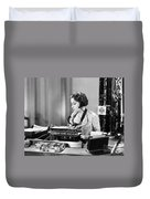 Silent Film Still: Offices Duvet Cover