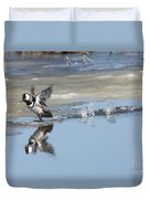 Hooded Merganser Duvet Cover