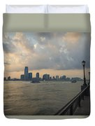 View From Battery Park City Duvet Cover