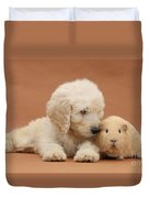 Puppy And Guinea Pig Duvet Cover