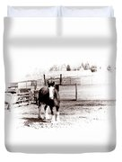 1900  Clydesdale Horse Duvet Cover
