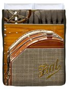 1904 Fiat 75 Hp Alessio Touring Grille Emblem Duvet Cover