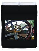 1913 Chalmers - Steering Wheel Duvet Cover